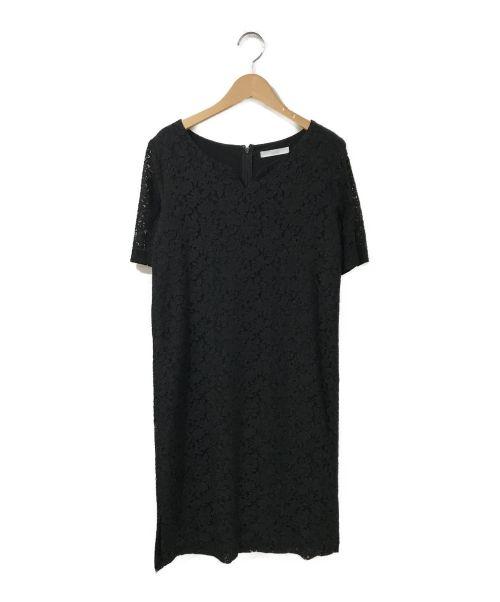 TONAL(トーナル)TONAL (トーナル) ショートVレースワンピース ブラック サイズ:38の古着・服飾アイテム