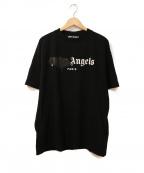 Palm Angels(パームエンジェルス)の古着「SPRAYED LOGO T-shirt」|ブラック