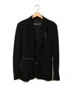 1piu1uguale3(ウノピゥウノウグァーレトレ)の古着「メッシュテーラードジャケット」|ブラック
