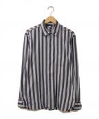 agnes b homme(アニエスベーオム)の古着「ストライプシャツ」 ブルー×ネイビー