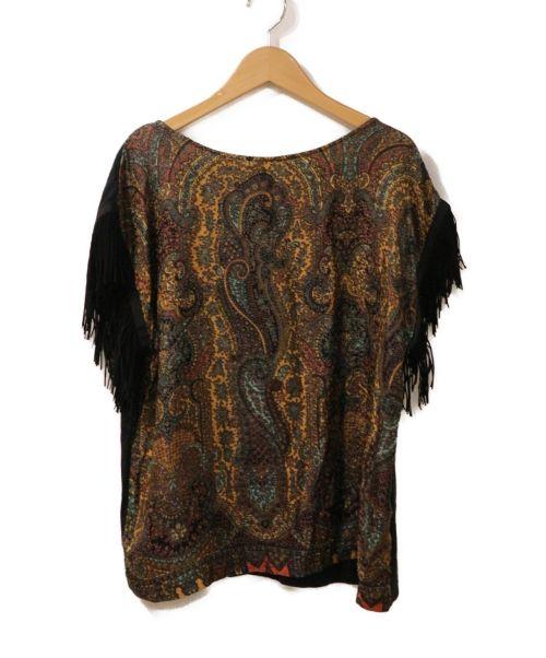 muller of yoshiokubo(ミュラーオブヨシオクボ)muller of yoshiokubo (ミュラーオブヨシオクボ) Paisley fringe Tシャツ ブラック サイズ:40の古着・服飾アイテム