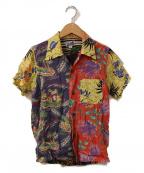 BEAMS(ビームス)の古着「アロハシャツ」 イエロー×ブルー