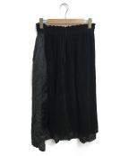 Y's(ワイズ)の古着「ベロアレイヤードスカート」 ブラック