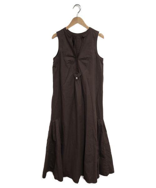CASA FLINE(カーサフライン)CASA FLINE (カーサフライン) ノースリーブロングワンピース ブラウン サイズ:Fの古着・服飾アイテム