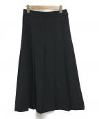 MSGM(エムエスジーエム)の古着「スリットプリーツスカート」|ブラック