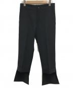 YOHJI YAMAMOTO(ヨウジヤマモト)の古着「裾デザインスラックス」|ブラック