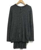YOHJI YAMAMOTO(ヨウジヤマモト)の古着「裾プリーツウールカーディガン」|グレー