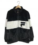 FILA(フィラ)の古着「ボアジャケット」 ブラック