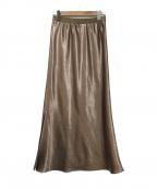 AP STUDIO()の古着「Glitter Longスカート」|ブラウン
