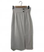 RIM.ARK(リムアーク)の古着「ハイウエストボトムスリットスカート」|グレー