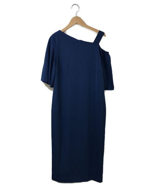 BEAUTY&YOUTH(ビューティアンドユース)BEAUTY&YOUTH (ビューティアンドユース) ツイルワンショルダードレス ブルー サイズ:Mの古着・服飾アイテム