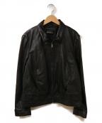 MAX&Co.(マックスアンドコー)の古着「レザージャケット」|ブラック