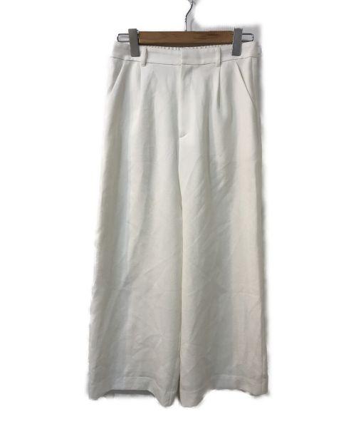 UNTITLED(アンタイトル)UNTITLED (アンタイトル) ワイドタックパンツ ホワイト サイズ:2の古着・服飾アイテム