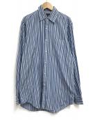 ()の古着「ストライプシャツ」|ブルー