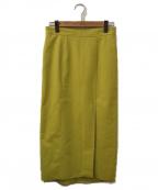 Spick and Span(スピックアンドスパン)の古着「アシメヘムフェイクスエードスカート」|イエロー