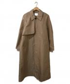 BEAUTY&YOUTH(ビューティアンドユース)の古着「シャンブレーステンカラーコート」 ベージュ