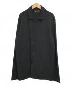 agnes b(アニエスベー)の古着「アシンメトリーニットジャケット」|ブラック