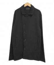 agnes b (アニエスベー) アシンメトリーニットジャケット ブラック サイズ:SIZE2