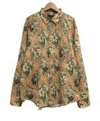 PAUL SMITH(ポールスミス)の古着「WALLPAPER FLORALプリントシャツ」 オリーブ
