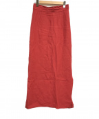 BACCA(バッカ)の古着「リネンロングセミタイトスカート」|レッド