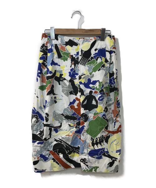 JIL SANDER(ジルサンダー)JIL SANDER (ジルサンダー) 総柄スカート マルチカラー サイズ:36の古着・服飾アイテム