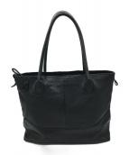 ()の古着「レザートートバッグ」|ブラック