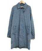 ()の古着「縦横シャンブレーコート」|インディゴ