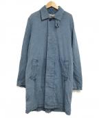 REMI RELIEF(レミレリーフ)の古着「縦横シャンブレーコート」|インディゴ