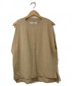JANE SMITH(ジェーンスミス)の古着「Aラインノースリーブカットソー」|ベージュ