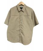 ()の古着「鬼ボーンS/Sシャツ」 ブラウン×グレー