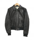 MHL(エムエイチエル)の古着「レザージャケット」|ブラック