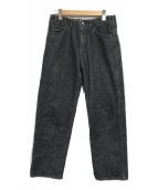 ()の古着「デニムテーパードパンツ」|ブラック