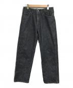 WESTOVERALLS(ウエストオーバーオールズ)の古着「デニムテーパードパンツ」 ブラック