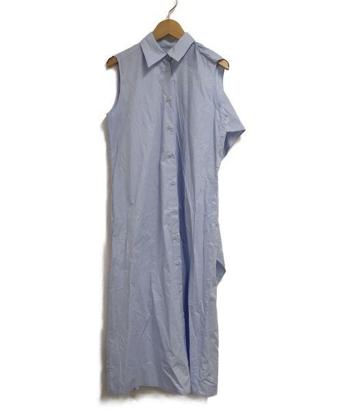 MM6 Maison Margiela(エムエムシックス メゾン マルジェラ)MM6 Maison Margiela (エムエムシックス メゾン マルジェラ) ノースリーブシャツワンピース スカイブルー サイズ:38の古着・服飾アイテム