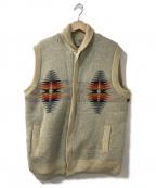 PENDLETON(ペンドルトン)の古着「ニットベスト」|アイボリー
