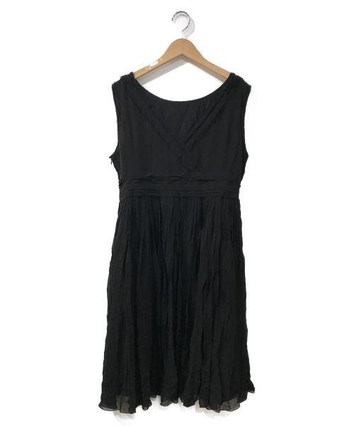 FOXEY(フォクシー)FOXEY (フォクシー) シルクデザインワンピース ブラック サイズ:42の古着・服飾アイテム