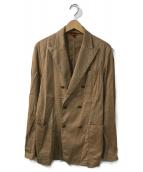 ()の古着「ダブルブレストジャケット」|ベージュ