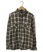 R.H.Vintage(ロンハーマン・ヴィンテージ)の古着「チェックシャツ」 ブラウン