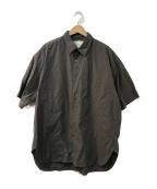 STUDIO NICHOLSON()の古着「パウダーコットン オーバーサイズショートスリーブシャツ」|グレー