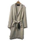Paul Smith BLACK(ポールスミスブラック)の古着「ベルト付チェスターコート」|アイボリー
