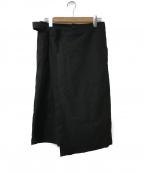 RISMAT by Y's(リスマットバイワイズ)の古着「アシメワイドパンツ」 ブラック