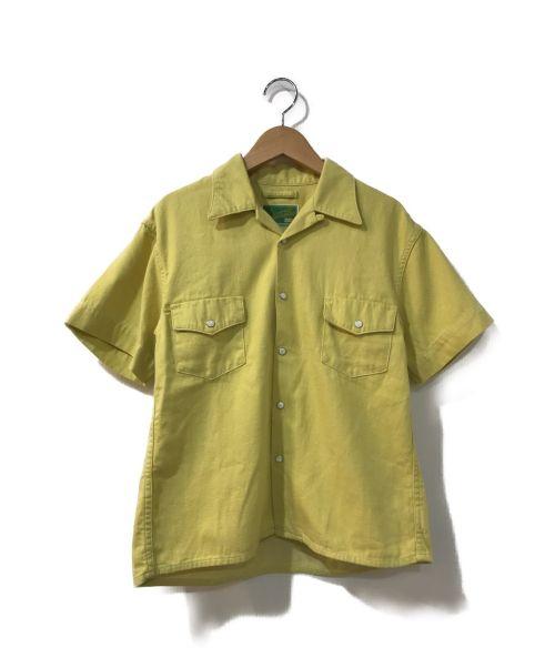 WESTOVERALLS(ウエストオーバーオールズ)WESTOVERALLS (ウエストオーバーオールズ) DENIM S/S SHIRTS イエロー サイズ:Aの古着・服飾アイテム