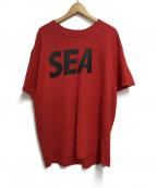 WIND AND SEA(ウィンダンシー)の古着「プリントTシャツ」|レッド×ブラック