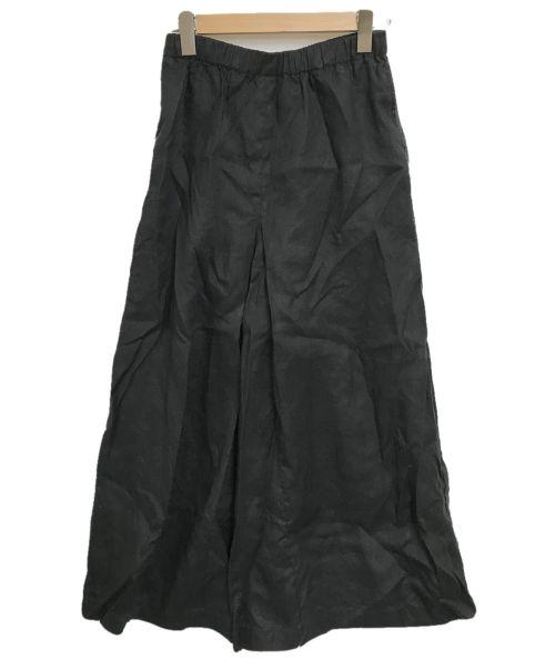 JOURNAL STANDARD(ジャーナルスタンダード)JOURNAL STANDARD (ジャーナルスタンダード) リネンタックキュロット ブラック サイズ:34の古着・服飾アイテム