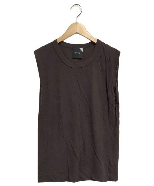 ATON(エイトン)ATON (エイトン) FRESCA TANK TOP ブラウン サイズ:02の古着・服飾アイテム
