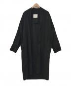 Adam et Rope(アダムエロペ)の古着「ガウンコート」 ブラック