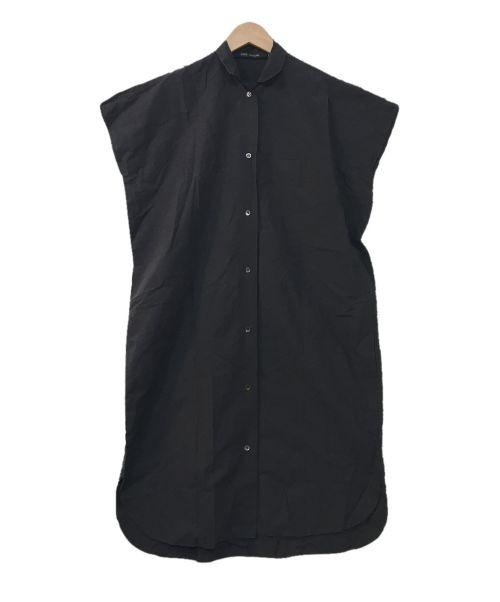 SOFIE D'HOORE(ソフィー ドール)SOFIE D'HOORE (ソフィー ドール) オーバーサイズプルオーバーパッカリングシャツワンピース ブラック サイズ:34の古着・服飾アイテム