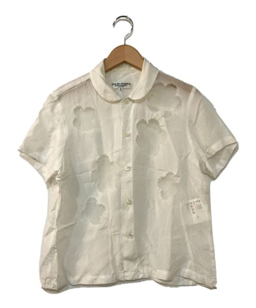 ROBE DE CHAMBRE COMME DES GARCONS(ローブドシャンブル コムデギャルソン)ROBE DE CHAMBRE COMME DES GARCONS (ローブドシャンブル コムデギャルソン) レース切替ブラウス ホワイト サイズ:Sの古着・服飾アイテム