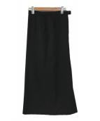 ()の古着「ジャガードマキシスカート」 ブラック
