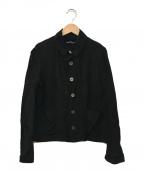 tricot COMME des GARCONS()の古着「ラウンドカラーレーヨンジャケット」 ブラック